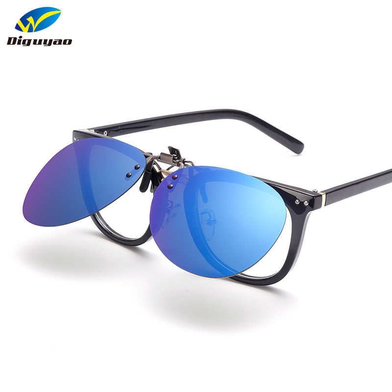 ea97f4e290fb DIGUYAO Pilot Polarized Metal Clip On Sunglasses Women Men Rimless Frame  For Prescription Glasses Double Fit