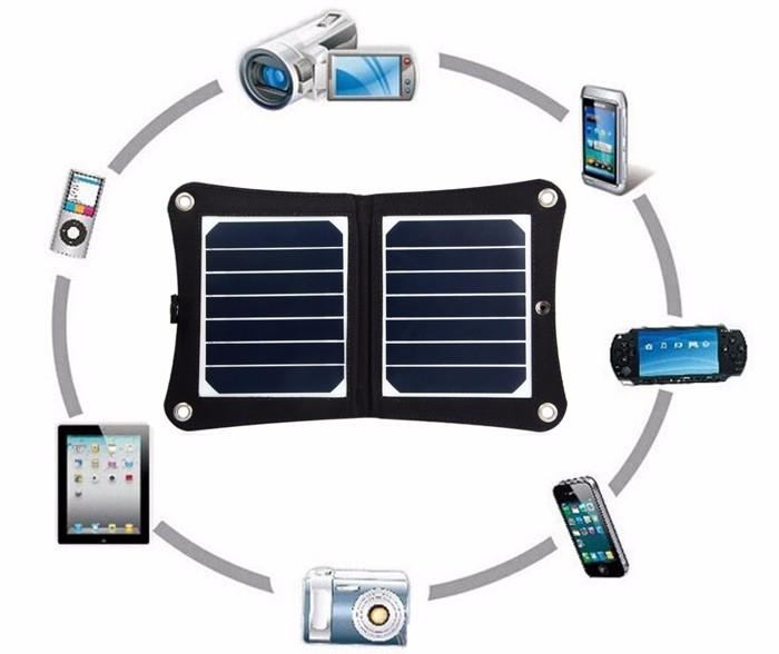 Folding solar panel charger