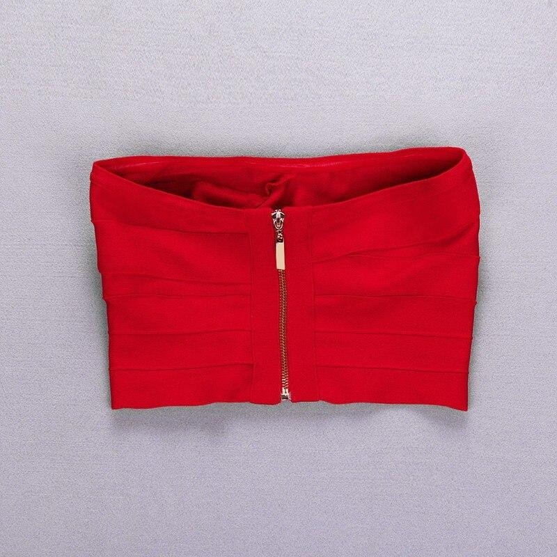 Bevencel новые женские топы без бретелек красные бандажные топы летние топы