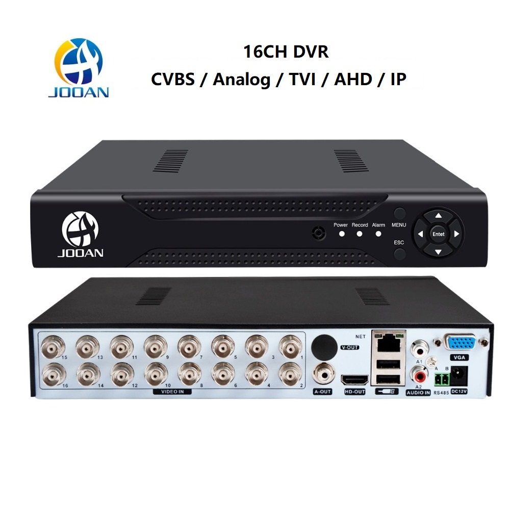 Jooan DVR 16CH TVI AHD Analog 16CH 5in1 AHD IP Cameras HD P2P Cloud H 264