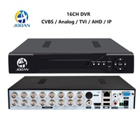 Jooan DVR 16CH TVI AHD Analog 16CH 5in1 AHD IP Cameras HD P2P Cloud H.264 VGA HDMI AHD TVI CVI CCTV DVR Recorder Video Recorder