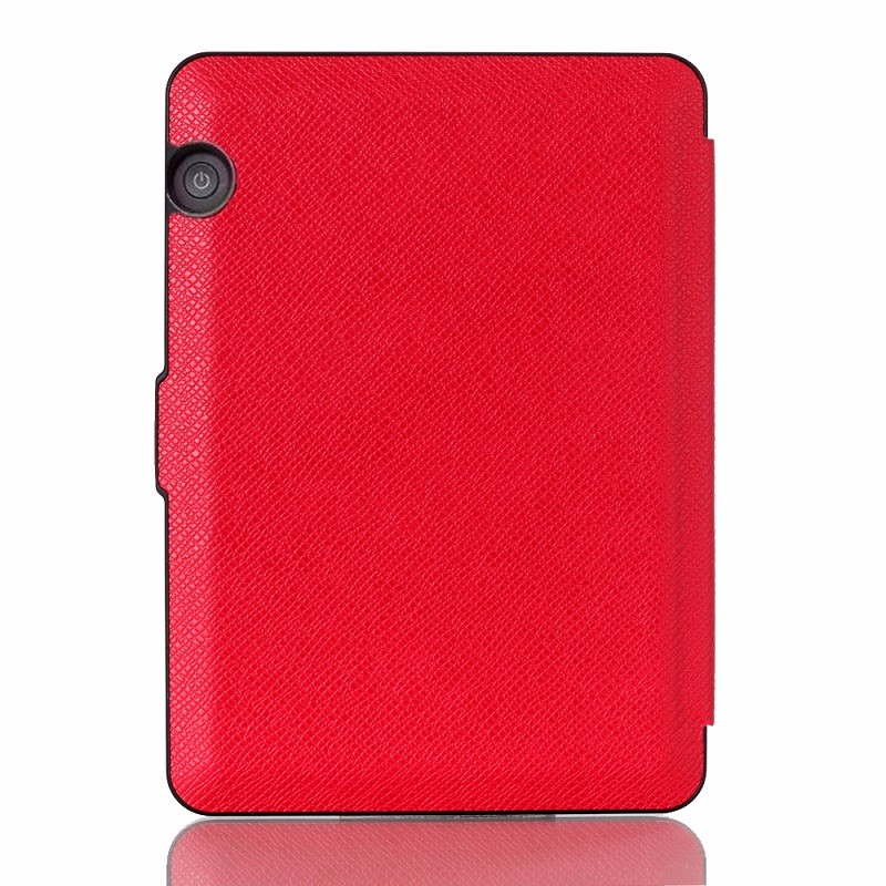 red pu leather ebook case for amazon kindle voyage ereader case