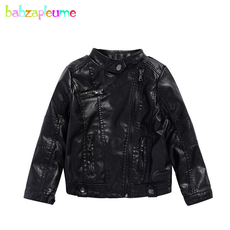New Baby PU Leather Jackets Kids Boys Clothes Long Sleeve ...