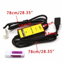 OOTDTY Car MP3 Audio MP3 USB Interface SD AUX Data Cable Adapter CD Changer SSD/SHSD /MMC Card For Honda Acura
