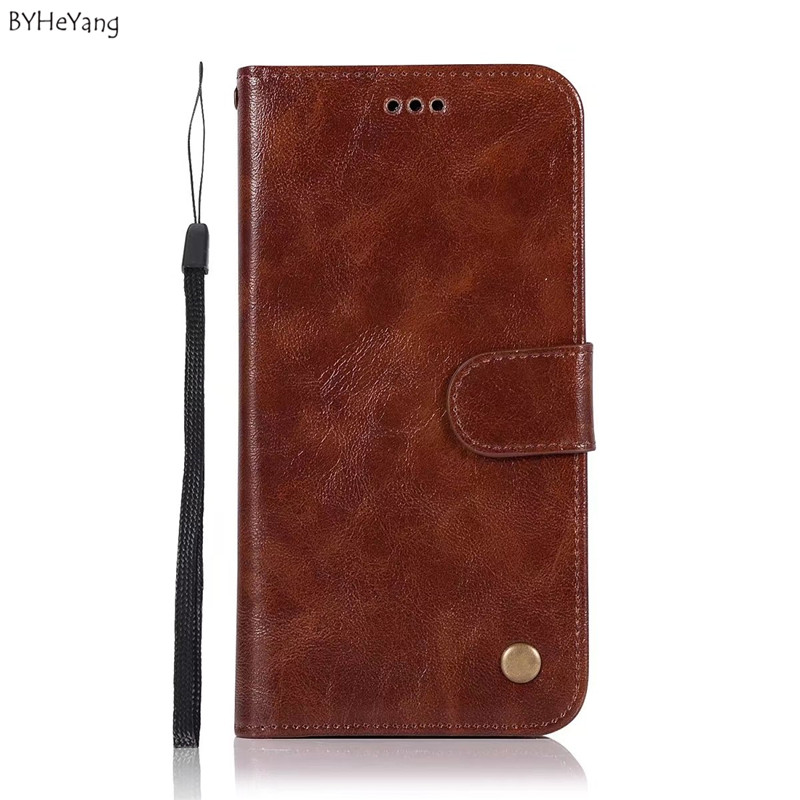 BYHeYang Luxury Flip Leather Cover For Coque Motorola Z2 Play Case Card Slot case Retro Wallet For Fundas Moto Z2 Play phone bag