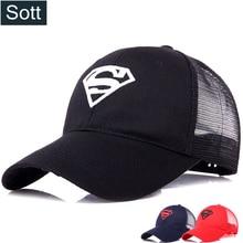 SOTT  2018 nuevo verano gorra de béisbol Superman carta Snapback Cap  hombres Hip Hop mujeres sombrero de papá verano malla patr. 692f0166398