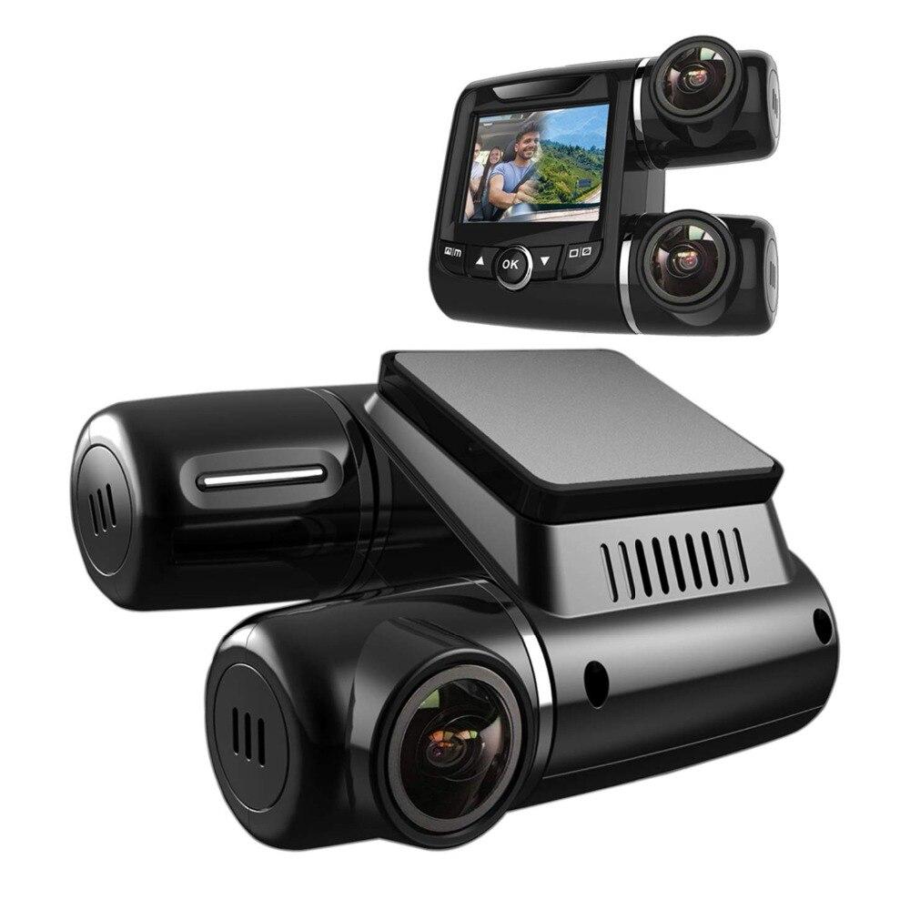 Caméra de tableau de bord Pruveeo PV2 double FHD 1920x1080 P avant et cabine, caméra de tableau de bord pour voitures chauffeurs de Taxi de camion Uber Lyft