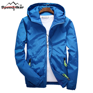 Image 2 - Size 6XL 5XL 7XL 2018 Spring Autumn Young Men Windbreaker Hooded Jacket Slim Thin Clothing Top Quality Waterproof Plus Size K316