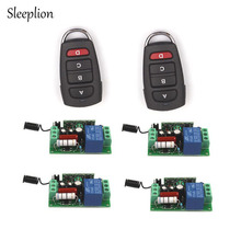 Sleeplion 110V 10A 1CH Relay 2 4-key wireless RF Control Switch 2 Transmitter+4 Receiver For TV Lights Doors Windows 315/433MHz