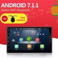 Bosion 7inch Car Radio Android 7.1.1 Quad 4Core 2G RAM+16G ROM+Free Camera GPS Navi Bluetooth AUX RDS USB SD FM MP5 Player 2DIN