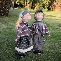 Height 40cm ceramic kiss Lovers doll home Decorate Russian girl doll frozen queen porcelain doll wedding with for baby gifts