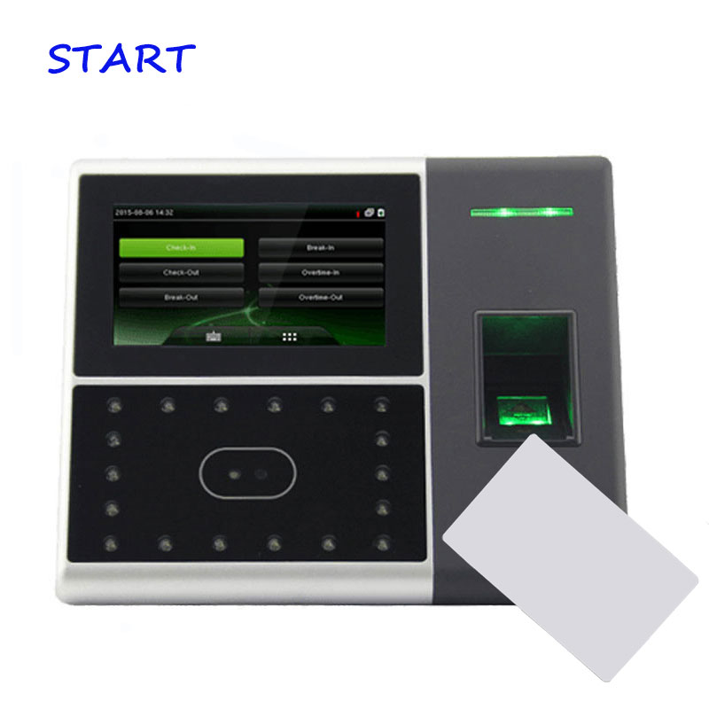 Biometric Face Recognition And Time Clock Access Control Machine IFace702 Time Attendance With 13.56Mhz IC Card Time Recorder