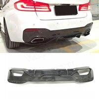 2PCS/Set Rear Lip Diffuser Spoiler for BMW 5 Series G30 G31 G38 M Tech M Sport 2017 2018 MP Style car bumper plate protector