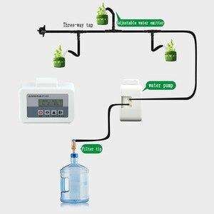 Image 4 - Солнечная энергия автоматическая система полива для цветов Интеллектуальный водяной насос таймер система капельного орошения Набор садовых горшков