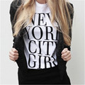 NEW YORK CITY GIRL Women Sexy T Shirt Summer Style Outfits Tumblr Fashion T-Shirt Hipster Letter Tops Tee Shirt T-F10070