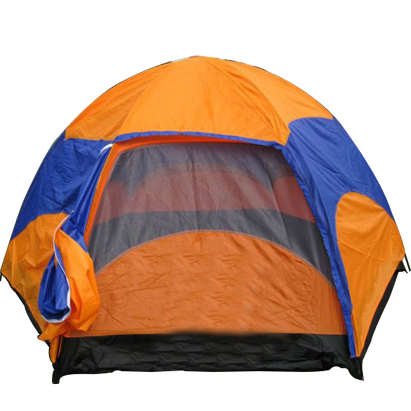 Hot Sale waterproof Oxford Fabric Double Layers Tent large space 6-8 person 4 season outdoor travel camping hiking tent high quality outdoor 2 person camping tent double layer aluminum rod ultralight tent with snow skirt oneroad windsnow 2 plus