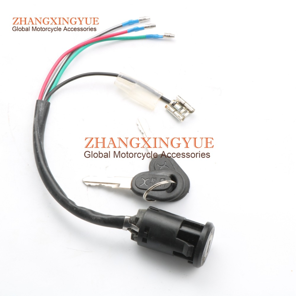 4 WIRES IGNITION SWITCH KEY For HONDA NC50 PA50 H100 CG110 CG125 MT50 CB125S XL125S 35100-147-671 35100-397-633