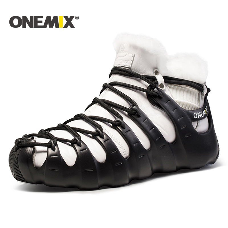 Onemix winter women boots running shoes for men outdoor trekking shoe sneakers walking shoes autumn winter