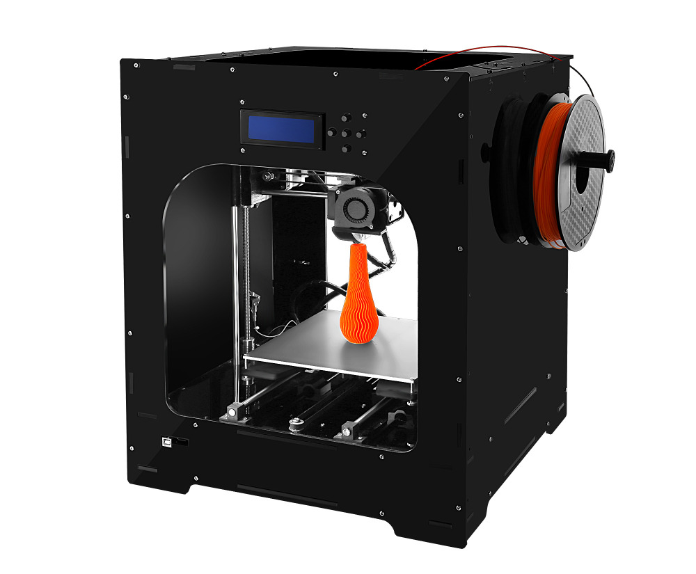 DIY 3d Printer cube kit Large printing size High Quality Precision printing MK8 extruder colorful industrial framework