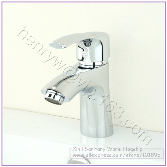 L16587 - Luxury Deck Mounted Chrome Color Brass Material Lavatory Hot & Cold Water FaucetL16587 - Luxury Deck Mounted Chrome Color Brass Material Lavatory Hot & Cold Water Faucet