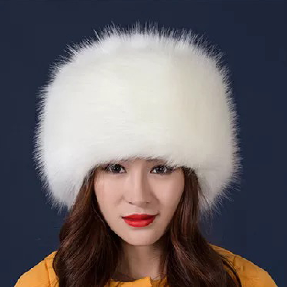 Image 4 - 2018 New Arrival Beanies Woman Hats For Winter White Black Party Hats Lady Warm Classic  Faux Fur Solid Female Skullies Hats-in Women's Skullies & Beanies from Apparel Accessories