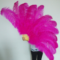 Hot Sale Belly Dance Ostrich Feathers Hand Fans,Wholesale Personalized Bamboo Fan Of Old Wedding Decoration 25