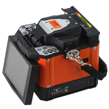 A-80S Orange Automatic Fusion Splicing Machine Fiber Optic With Display And Lithium Battery Module