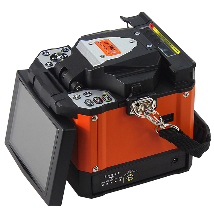 Máquina empalmadora de fusión automática de fibra óptica A-80S naranja