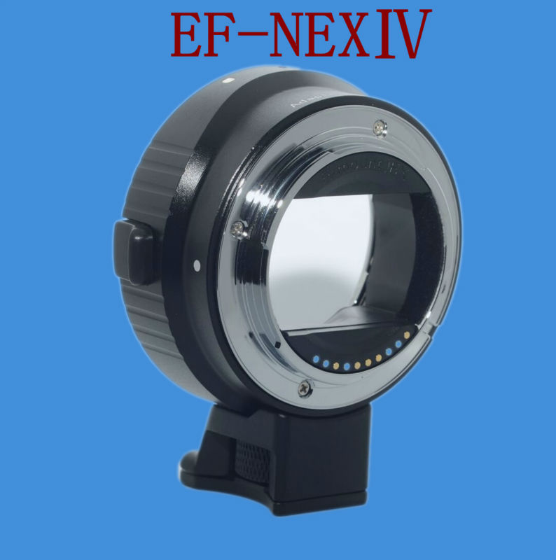 EF-NEX4 Newest Version Electronic Auto EF-EMOUNT FX Lens Mount Adapter for Canon EF EF-S Lens to Sony E Mount /A7 A7R Full Frame mcolpus auto mount adapter ef nex for canon eos ef mount lens to sony nex series e mount camera with 1 4 tripod socket