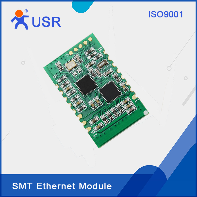 USR-TCP232-S2 New SMT Serial UART TTL to Ethernet TCP/IP Converter Support Built-in Webpage(5pcs/pk) usr wifi232 d2b direct factory 3 3v power serial uart ttl port to ethernet wifi wireless module converter with built in webpage