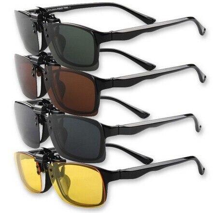 Клипсы на солнцезащитных очках линзы поляризованные дневное видение флип клип на очки с желтыми стеклами для ночного вождения очки 5 шт./партия