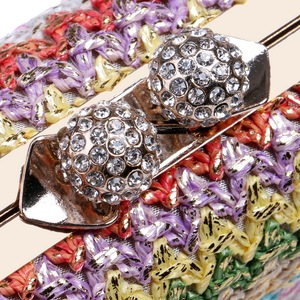 Image 5 - Sekusa Chains Hard Knitted Fashion Women Evening Bags Diamonds Small Day Clutch Party Wedding Shoulder Bags