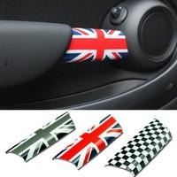 2pcs Set Car Interior Door Handle Knob Cover Sticker Protection For Mini Cooper JCW R55 Clubman