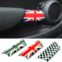 2pcs/set Car Interior Door Handle Knob Cover Sticker Protection for Mini Cooper JCW R55 Clubman R56 R57 R58 R59 Car Accessories