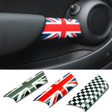 2pcs set Car font b Interior b font Door Handle Knob Cover Sticker Protection for Mini