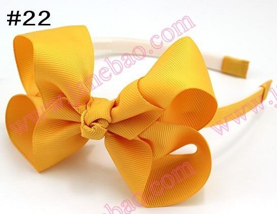 100 шт. 4.5 ''ободки для волос Луки ободки для девочек innfant Бутик Лук ободки