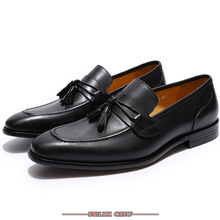 High Grade Leather Dress Men Shoes Tassel Loafers Italian Style Casual Loafer Slip-on Wedding Party