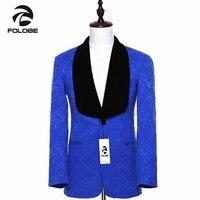 FOLOBE Brand New Mens Blazer Slim Fit Royal Blue Suit Jacket England Style Male Terno Coat