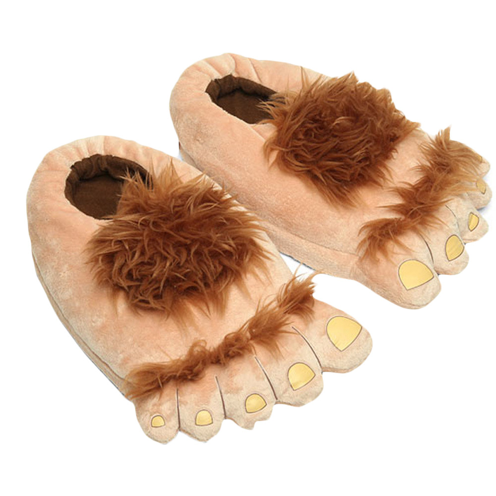 6bc68d332d6f61 Funny Unisex Plush Slipper Big Feet Creative Men And Women Warm Slippers  Winter House Indoor Shoes Cute High Quality Fashion-in Slippers from Shoes  on ...