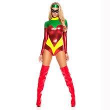 Сексуальный костюм супергероя на Хэллоуин для женщин ролевые костюмы мокрого вида ПВХ виниловые Кожаные боди с длинным рукавом сексуальный костюм