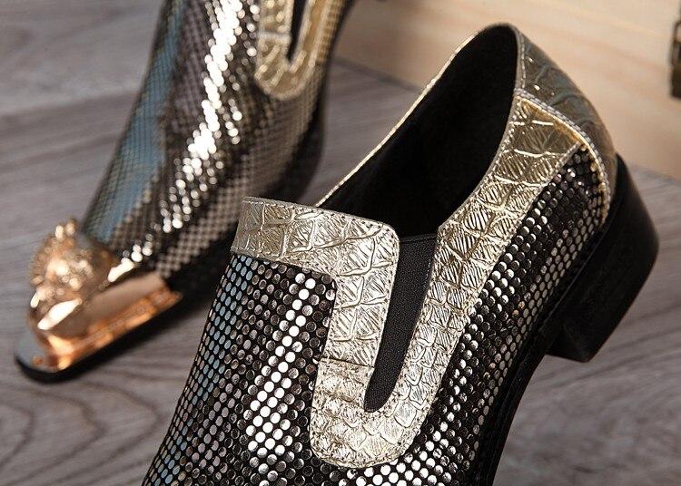 Homens De Italiano Sapatas Sapatos Picture Luxo Para Couro Prom Marca Pele Dos Zobairou Mocassins Crocodilo As Patente Ouro 2018 OXqAt
