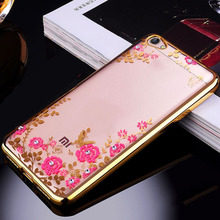 цена на For Xiaomi Redmi Note 5A 2gb 16gb Case TPU silicone Capa Flower Bling Diamond Clear Soft Case For Xiaomi Redmi Note 5A 5.5 inch