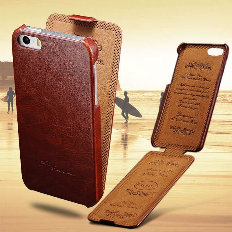 reputable site 6e02f 8152b US $3.99 20% OFF|5S Flip Case For iPhone 5S 5 SE PU Leather TOMKAS Brand  Luxury Phone Back Cover Coque For Apple iPhone5 Cases Phone 5 S Bag-in Flip  ...