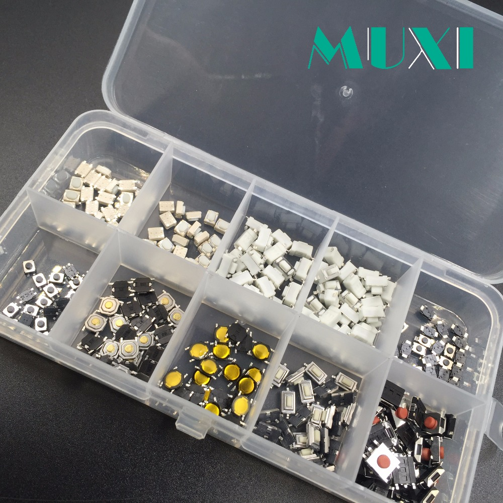 250Pcs/Box 10 Models Mirco Touch Switch Car Remote Control Switch for 4*4 3*6 3*4 6*6 eziusin 10 models car remote control tablet micro switch key touch tactile push button component package 4 4 3 6 3 4 6 6