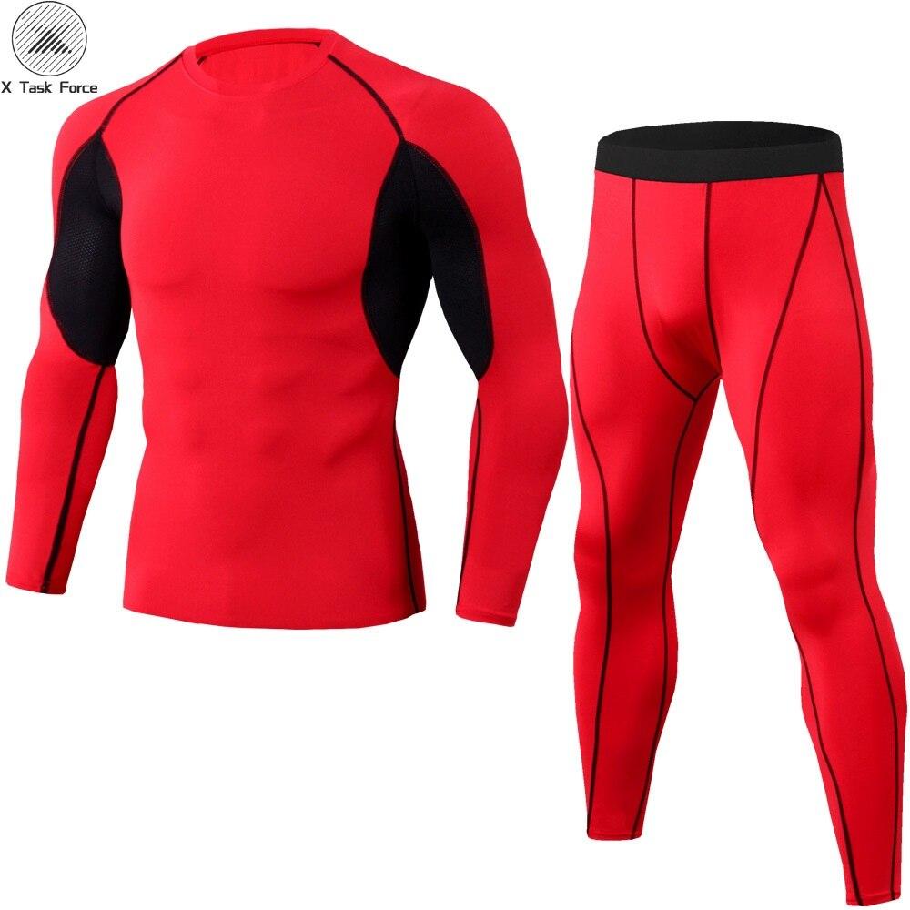 New Rashguard Compression Gear Sportswear Suits Men Fitness Long Sleeve T Shirt Tracksuit Tights MMA Compression Shirts S-3XL