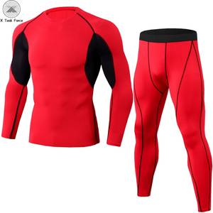 New Rashguard Compression Gear Sportswear Suits Men Fitness Long Sleeve T Shirt Tracksuit Tights MMA Compression Shirts S-3XL