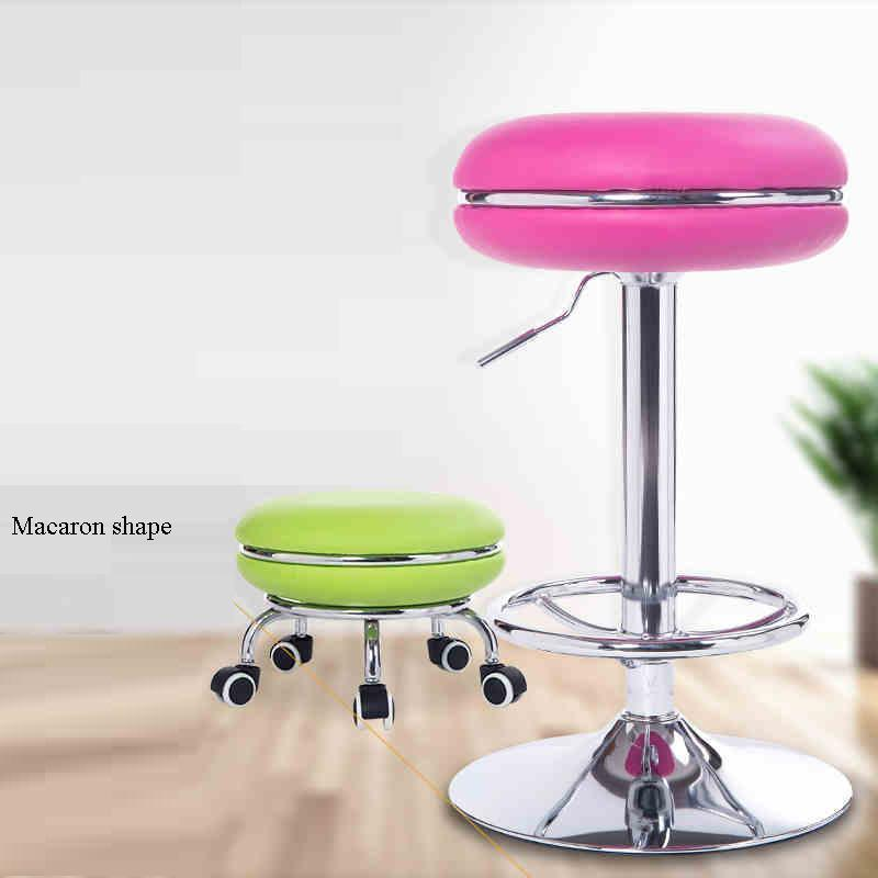 office household stool pink green yellow seat home villa lifting chair free shipping hotel hall office chair green blue color lifting rotation stool retail wholesale pink blue furniture chair free shipping