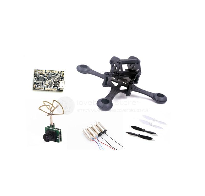 DIY FPV brush indoor mini drone frame kit EYAS 55 pure carbon frame F3_EVO brush FC 8520 brush motor prop 1200TVL VTX camera fpv diy mini 88mm 90mm frame mini