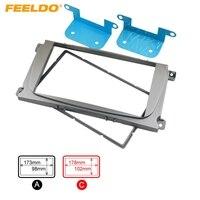 Silver 2DIN Car Refitting Radio Stereo DVD Frame Fascia Dash Panel Installation Kits For Ford Focus
