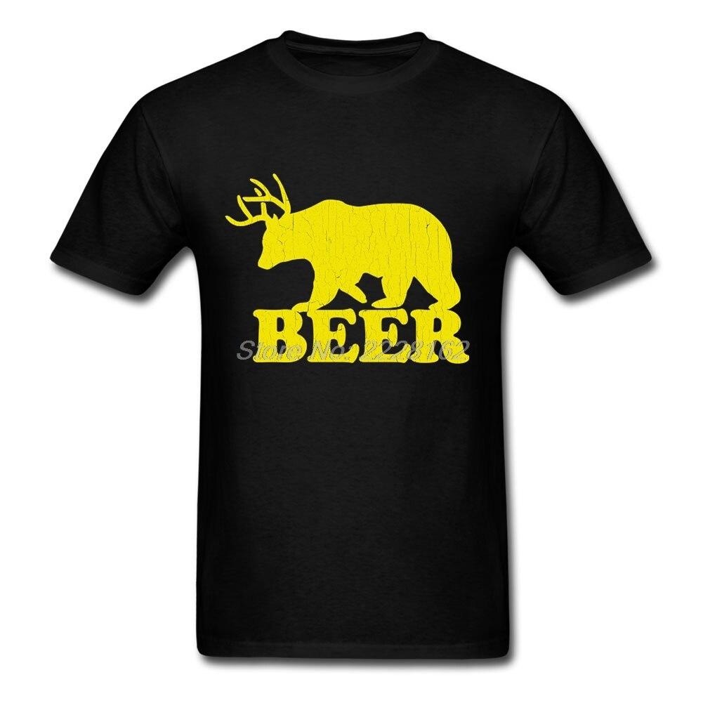 Предварительно Хлопок Для мужчин футболки забавные пиво Медведь идеально Harajuku Блузки для малышек для BF Дизайн Футболка с принтом героев му... ...